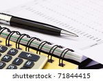 financial charts and graphs on... | Shutterstock . vector #71844415