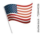 united states of america flag | Shutterstock .eps vector #718444336