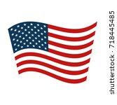 united states of america flag | Shutterstock .eps vector #718445485