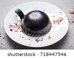 beautiful drench surface cake ... | Shutterstock . vector #718447546