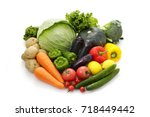 vegetable set | Shutterstock . vector #718449442