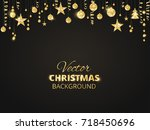 holiday background with... | Shutterstock .eps vector #718450696