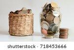 save money save money concept... | Shutterstock . vector #718453666