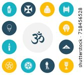 set of 13 editable religion...
