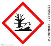 dangerous icon of hazardous... | Shutterstock .eps vector #718460398