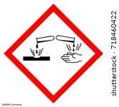 hazardous warning. warning sign.... | Shutterstock .eps vector #718460422