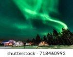 Green Powerful Bright Aurora...