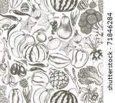 seamless vintage food background   Shutterstock .eps vector #71846284