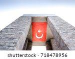 canakkale martyrs' memorial is...   Shutterstock . vector #718478956