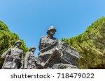 canakkale martyrs' memorial is...   Shutterstock . vector #718479022