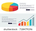 statistic demonstration with... | Shutterstock .eps vector #718479196