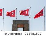 canakkale martyrs' memorial is...   Shutterstock . vector #718481572