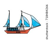 ship with sails icon image | Shutterstock .eps vector #718484266