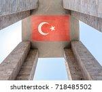 canakkale martyrs' memorial is...   Shutterstock . vector #718485502
