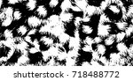 abstract black and white... | Shutterstock . vector #718488772