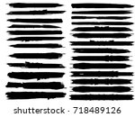 grunge paint stripe . vector... | Shutterstock .eps vector #718489126