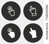 hand vector icon. illustration...   Shutterstock .eps vector #718500382