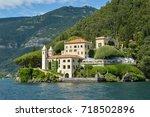 villa del balbianello is one of ... | Shutterstock . vector #718502896