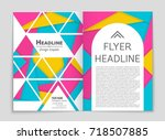 abstract vector layout... | Shutterstock .eps vector #718507885