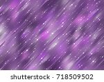 bright violet illustration with ... | Shutterstock . vector #718509502