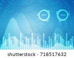 stock market graph and bar... | Shutterstock . vector #718517632
