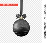xmas balls black color.... | Shutterstock .eps vector #718520356