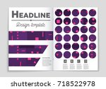 abstract vector layout... | Shutterstock .eps vector #718522978