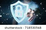 businessman on blurred... | Shutterstock . vector #718530568