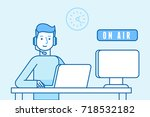 vector illustration in flat... | Shutterstock .eps vector #718532182