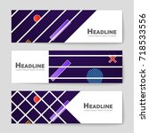 abstract vector layout... | Shutterstock .eps vector #718533556