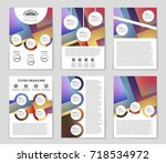 abstract vector layout... | Shutterstock .eps vector #718534972