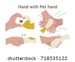animal and human make together... | Shutterstock .eps vector #718535122