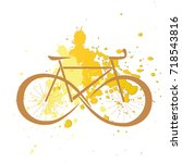 vector illustration of bicycle. ...