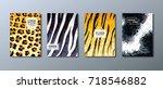 annual report brochure  flyer...   Shutterstock .eps vector #718546882
