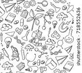 seamless pattern background... | Shutterstock .eps vector #718552636