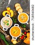 concept of healthy vegetable...   Shutterstock . vector #718560682