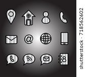 contact icons | Shutterstock .eps vector #718562602