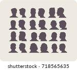 men's heads. silhouettes set....   Shutterstock .eps vector #718565635