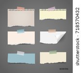 collection of various note... | Shutterstock .eps vector #718570432