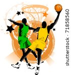 player in basketball at the... | Shutterstock .eps vector #71858560