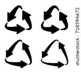 recycle triangular arrow eco... | Shutterstock .eps vector #718594672