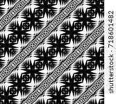 design seamless monochrome... | Shutterstock .eps vector #718601482