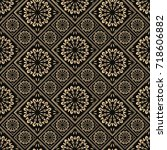 seamless pattern oriental... | Shutterstock .eps vector #718606882