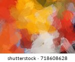 autumn brush stroke graphic... | Shutterstock . vector #718608628