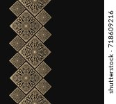 golden frame in oriental style. ... | Shutterstock .eps vector #718609216