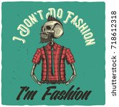 t shirt or poster design with... | Shutterstock .eps vector #718612318