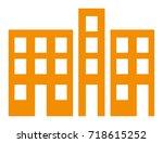 buildings vector icon | Shutterstock .eps vector #718615252