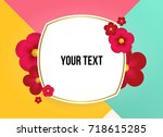 wonderful background with... | Shutterstock .eps vector #718615285
