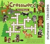 crosswords puzzle game of... | Shutterstock .eps vector #718618846