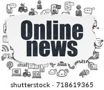 news concept  painted black... | Shutterstock . vector #718619365